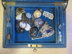 Antique Jewellery to include Whitby Jet, Tortoise Shel Pique, Shell Cameos, Micro Mosaic, Silver Bro
