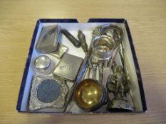 Silver Photo Frame Birmingham 1905, Silver Topped Jar, London Silver Cheroot Holder, 11 Various Hall