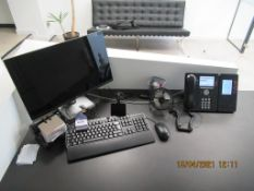 Dell Flat Screen Monitor, Keyboard with Mouse and Phone