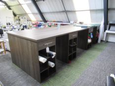 Triple Section Wood Effect Work Bench