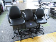 3 x Office High Chairs