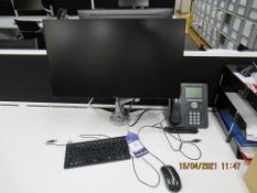 2x Dell Flat Screen Monitors with Keyboards, Mouses , Monitor Stands Included