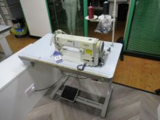 A Brother DBZ-B737-413 Single Needle Straight Stitcher complete with Table