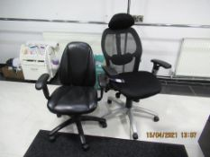 2 x Mobile Office Chairs