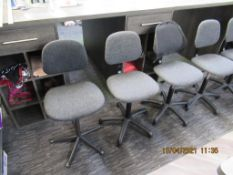 8 x Various Mobile Office Chairs