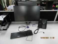 2x Dell Flat Screen Monitors with Keyboards, Mouses Monitor Stands Included