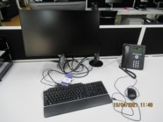 2x Dell Flat Screen Monitors with Keyboards, Mouses, Monitor Stands Included