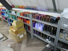 Large Qty of Sewing Thread Spools, Various Colours