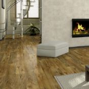 New 9.25m2 Arpeggio Tuscany Olive 2 Strip Effect Laminate Flooring. Drop Lick Fitting, 4 Sided