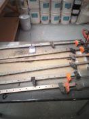4 x 1200 & 2 x 600mm Sash Clamps
