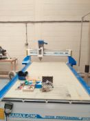 Ceamax CNC CMX-T1325 Titan Professional Series CND Router with Vacuum Table. Water Cooler Head,