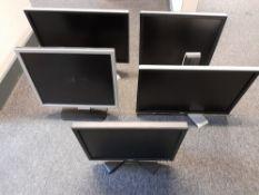 5 x Assorted Dell monitors