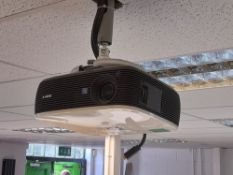 Sony projector – purchaser to remove. Ceiling bracket not included
