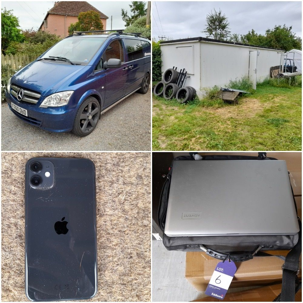 Mercedes Vito Van (2011), Site Cabin, Gymnastics Equipment (to include Ex-World Championship Items), iPhone & iPads