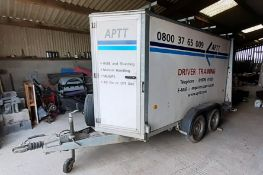 Ifor Williams 4 Wheeled Twin Axel Trailer Type BV1059, Trailer has Front Access as well as Rear