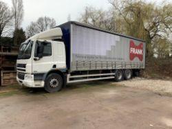 DAF CF 75.310 Curtainsider 3 Axle Rigid Body Lorry (2013)