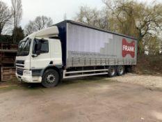 DAF CF 75.310 Curtainsider 3 Axle Rigid Body Lorry, Manual, 9186cc, 26,000KG, Barn Doors, Tuck under