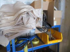 Content of the container to incldue qty of Ratchet Straps, Screws, Gas Pan Heater, 2 x two door meta