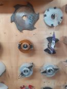 """Qty of assorted Spindle Moulder Tooling with 1 1/4"""" Bore"""