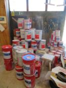 Large qty of Assorted Unopened and Opened Remmers Water Based Paint