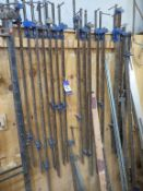 Qty of Sash Clamps, G-Clamps and Wooden Clamps