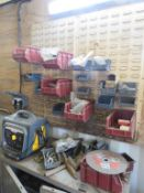 Content of the Container to include qty of Bolts an Screws, Plastic Storage Bins, etc.