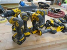 Qty of Cordless DeWalt Drills with chargers