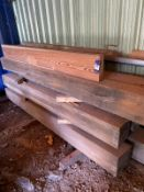 """Pitch Pine. 7 pieces. Approximately 8 foot long 10""""x10"""""""