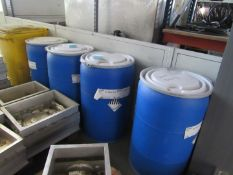 4 Drums of various Raw Polystyrene Bead, inc T180F, 40 to 50 US mesh (300-500 µm), For steam