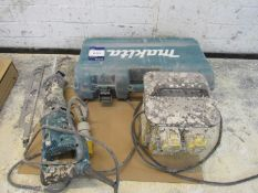 Makita SR 3050 T Rip Saw, 110V, with case and twin output 110v tool transformer