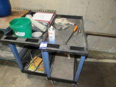 2 Luxor Plastic Workshop Trolleys