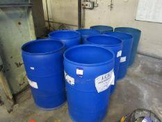 8 Various Blue Plastic Drums
