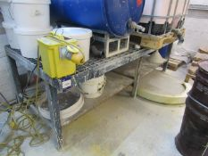 Steel Work Bench with gridded top