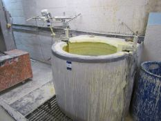 Slurry Mixing Tank with triple paddle mixer