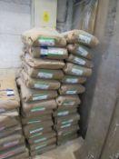 28 Bags of Imerys Refractory Minerals, Molochite 1630DD No 19 1003W, 25kg