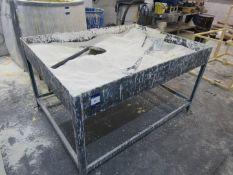 Steel ceramic stucco Coating table