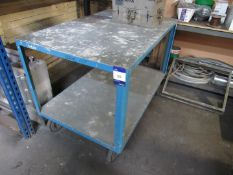 Mobile Steel Work Bench