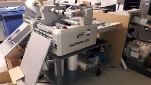 GMP Protopic 526 automatic encapsulator, S/N SP46S30035 with trolley