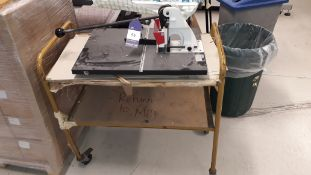 Stago HS-50 Lever Punch, serial number 10379 with trolley