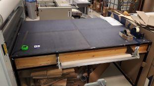 Steel Framed Illuminated Cutting Table, 6'x 4'