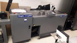 Duplo System 5000 Dynamic booklet maker with DBM-500T Trimmer unit S/N 0460082, DBM-LS1 take-off