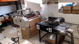Fully Automated Laminating Line comprising Smyth-Horne PBA380 Feed Unit, LED Co HS-30-103 Industrial