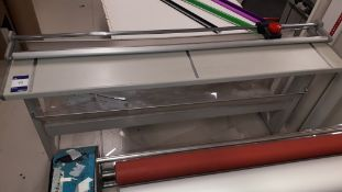 Trim 150 C/B IV Paper Trimmer on stand, serial number 668 1520 387