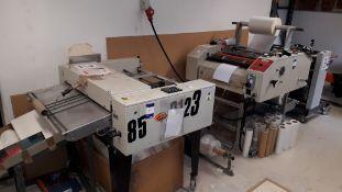 Fully Automated Laminating Line comprising feed unit, LED CC KS-25-1035 Encapsulator, Milray Cutting