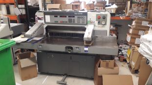 Polar 92 EMC Guillotine, S/N 5811974 with spare blades (disconnection required by a qualified