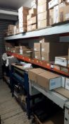 Bay of Boltless Steel Racking and contents including three encapsulator assemblies and bay of