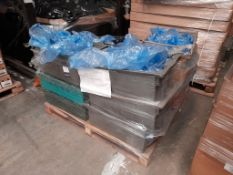 1 Pallet of 40ml potted paints, various colours, approx. 18 boxes/trays, one pallet