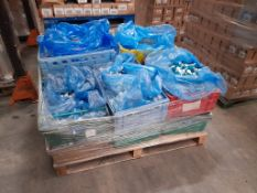 3 Pallets of 20ml potted paints, various colours, approx. 43 trays, three pallets