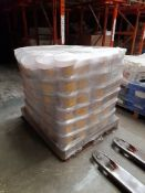 1 Pallet of YPO 2.5kg tubs of powder paint - Purple YP734039, approx. 150 tubs. one pallet
