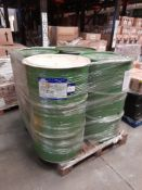 1 pallet of 4 oil drums of Paraffin, 3 x white, 1 x yellow, one pallet